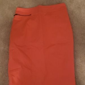 Like new coral pencil skirt